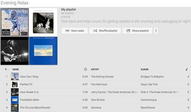 playlist, relax, evening music